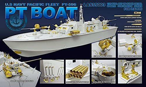 Elco Pt Boat - 1/35 ELCO 80 Fito torpedo boat PT-596 for detail up Parts Set (LAS3503)