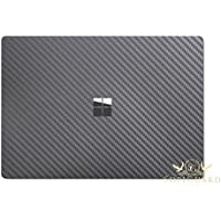 SopiGuard for Microsoft Surface Laptop Carbon Fiber Top and Bottom Panel Precision Edge-to-Edge Coverage Easy-to-Apply Vinyl Skins (Carbon Gunmetal Gray)