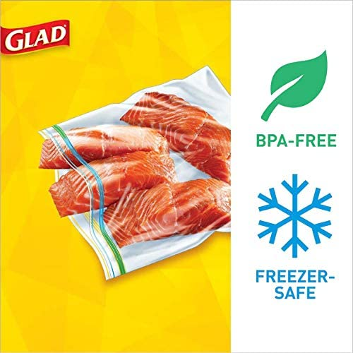 Glad Zipper Food Storage Freezer Bags - Gallon Size - 40 Count Each (Pack of 4) (Package May Vary)