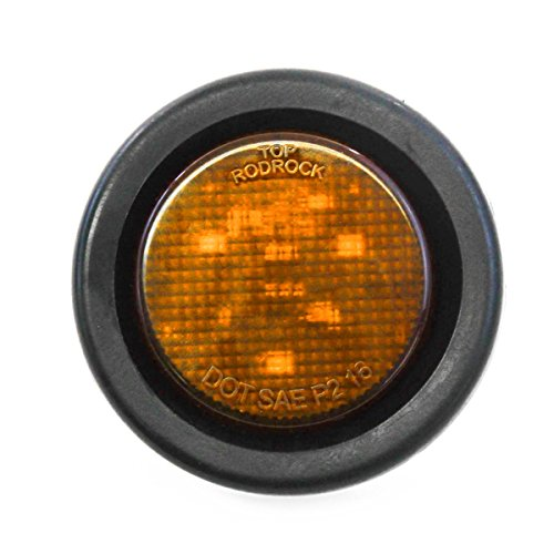Red Hound Auto Amber LED 2 Inches Round Side Marker Light Kits with Grommet Truck Trailer RV