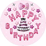 Forzza Happy Birthday Balloons Set in Pink for Party Decoration/Celebration