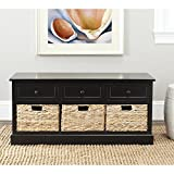 Safavieh AMH5701B American Homes Collection Damien 3 Drawer Storage Unit, Distressed Black: more info