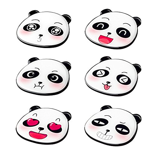 Morcart Refrigerator Magnets Cartoon Cute Panda Magnets Happy Mood(6pcs) Suitable For kitchen Office Supplies Coffee Shop Student Locker Menu MessageBoard Whiteboard Holiday Gifts ()