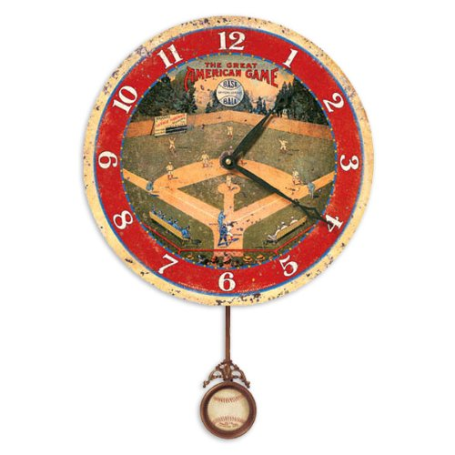 Circus Wall Clock (Floating Circus Storytime Field of Dreams Wall Clock , 13-Inch)