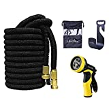 100 ft expandable hose - Lifecolor 100ft Expanding Hose Stretch Hosepipe, 9 Functions Sprayer,Strongest Expandable Garden Hose With Double Latex Core, Solid Brass Connector and Extra Strength Fabric for Car Garden Hose Nozzle