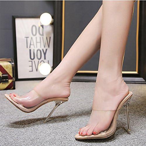 YUYOUG Mode Femmes Sandales Chaussures d/ét/é Partie Cristal Transparent Pantoufles /à Talons Hauts