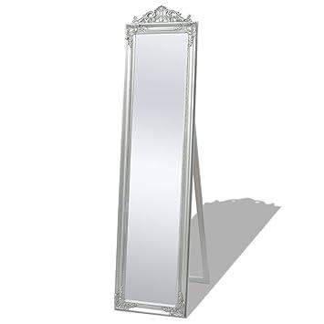 vidaXL Miroir sur Pied Chambre Salle de Bain Style Baroque 160 x 40 ...