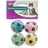 Ethical Sponge Soccer Balls Cat Toy, 8-Count