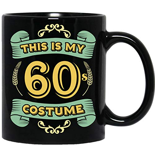 This Is My 60s Costume - Funny Halloween 60 Birthday Gag Gifts Idea Black Mug ()