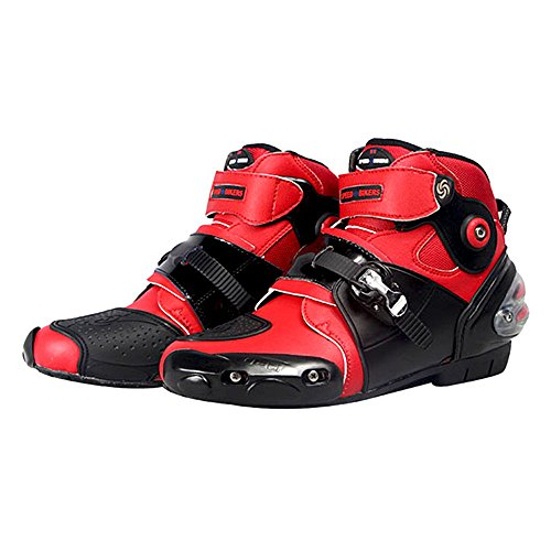 Red Motorcycle Boots - 1