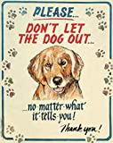 (US) Hauser-Dog Out Tin Sign 12 x 15in