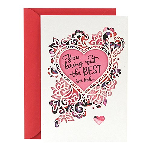 Hallmark Valentine's Day Romantic Greeting Card from Man (Scrolls and Floral (Fancy Scroll Heart)