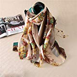 Women's Fahsion Georgette Oblong Scarf Shawl Hijab Royal Carriage Printed35 71''