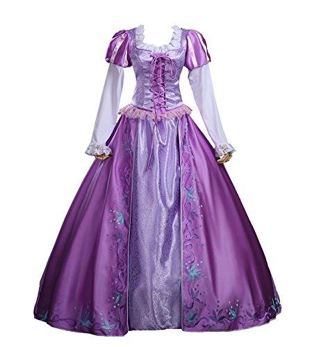 Women Disney Princess Costumes (Cosrea Cosplay Tangled Princess Rapunzel Embroidered Disney Park Cosplay Costume Custom Sizing (2XL))