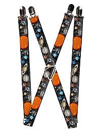 Buckle-Down Mens Planet Suspenders 50 IN Multi