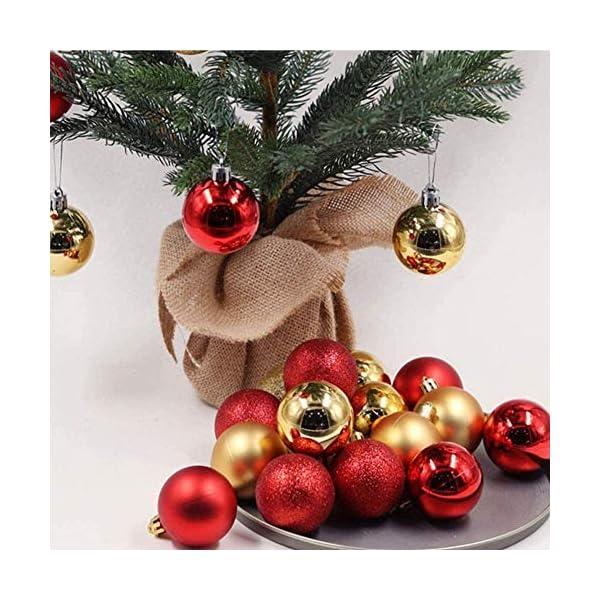 ZHOUZHOU 24 Pezzi 4cm Palle di Natale,Palline di Natale,Albero di Natale Palla Decorazioni,Palle Albero di Natale,Ornamenti di Palla di Natale,Natalizie Plastica Palle (Rosso) 5 spesavip