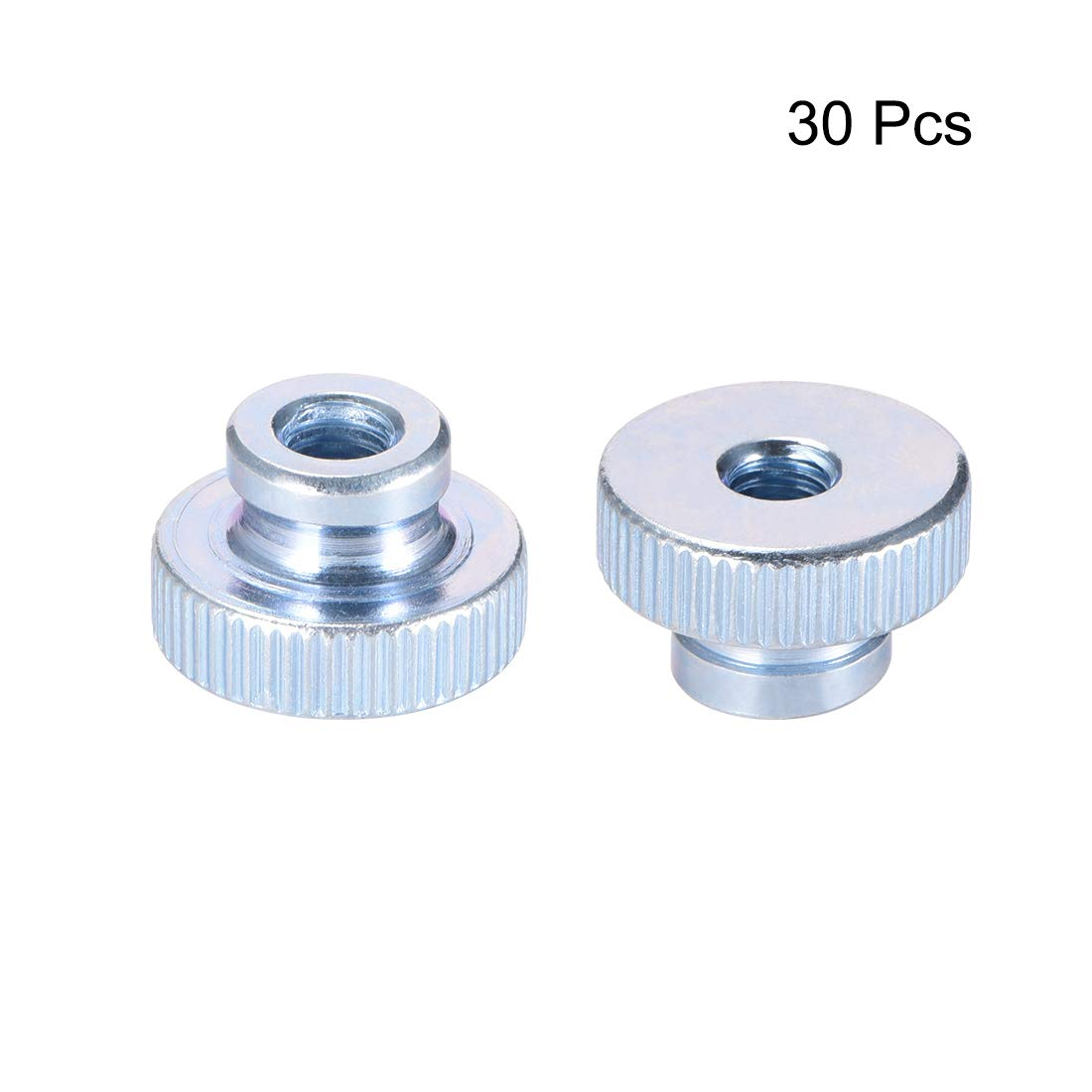 Pack of 10 Zinc Plating uxcell Knurled Thumb Nuts M5 Round Knobs with Collar