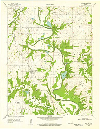 YellowMaps Fontana KS topo map, 1:24000 Scale, 7.5 X 7.5 Minute, Historical, 1958, Updated 1959, 27.14 x 21.15 in - Polypropylene