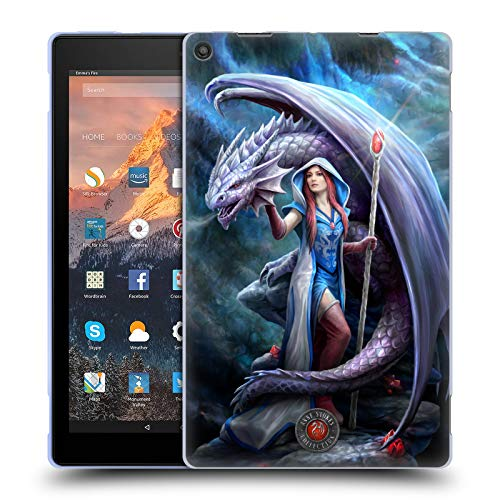 Official Anne Stokes Mage Dragon Friendship 2 Soft Gel Case for Amazon Fire HD 10 (2017)
