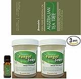 Bonus 3 Pack. Fungal Soap - Tinea Versicolor, Tinea Corporis, Foot Tinea (Athletes Foot), Tinea Cruris (Jock Itch) + Australian Tea Tree Oil 10mL Bottle