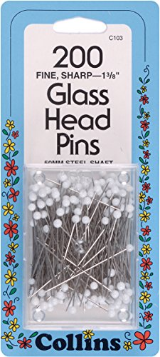 Collins COL103 200 Piece Glass Head Pins, 1-3/8