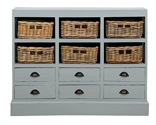 East At Main Oxford Mahogany Sideboard, Light Grey, (46x10x36)