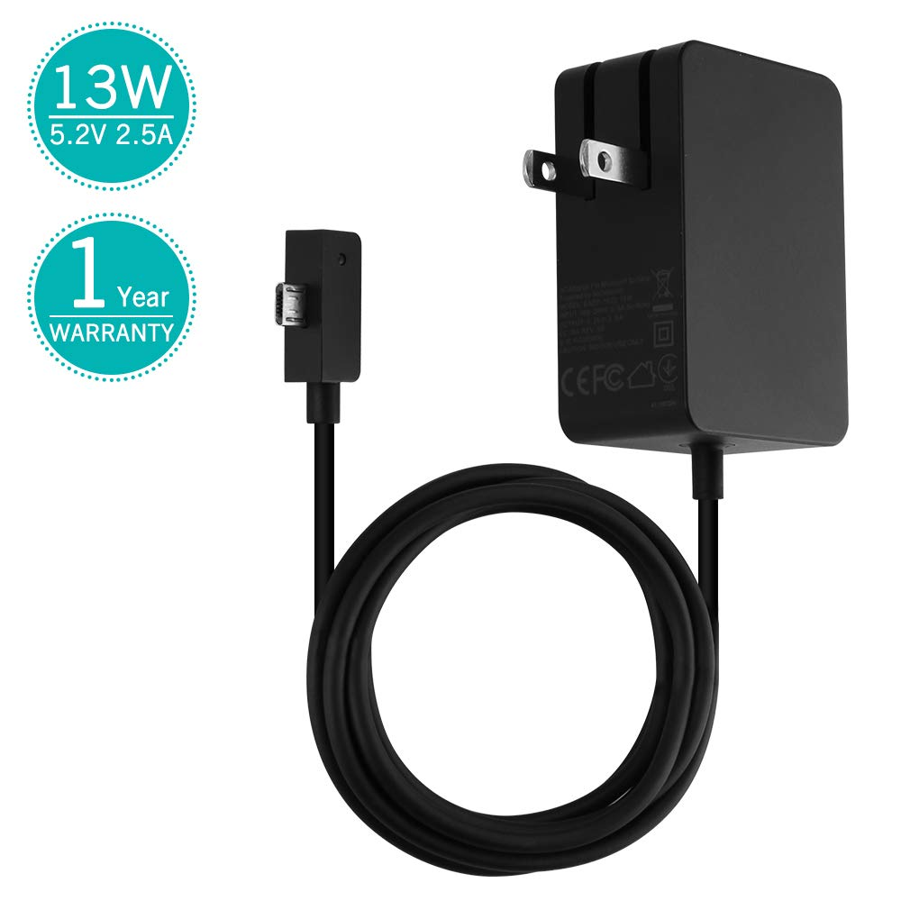 Surface 3 Charger 13W 5.2V 2.5A AC Power Adapter Charger Cord for Microsoft Surface 3 Model 1623 1624 1645 Tablet USB Charging Port 4.9Ft Cable-1.5m TG-Tech