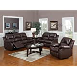 Valencia Brown Recliner Leather Sofa Suite 3+2 Seater Brand New 12 Months warranty FREE DELIVERY