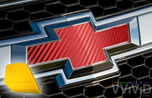 - VViViD XPO Red Carbon Fiber Chevy Bowtie Logo Wrap Kit (6 Rolls (11.8