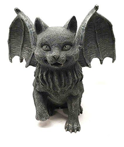Vampire Dracula Fanged Cat Gargoyle Gothic Candleholder Figurine Sculpture Decor (Sculpture Candle)