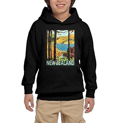 Travel Poster New Zealand Youth Boy Casual Hoodies Pullover Sweatshirts Hooded Kangaroo Pockets by Hihi Hoodies (Image #1)