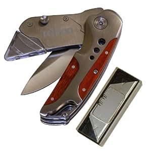 Rolson 62852 - Navaja con dos cuchillas en estuche