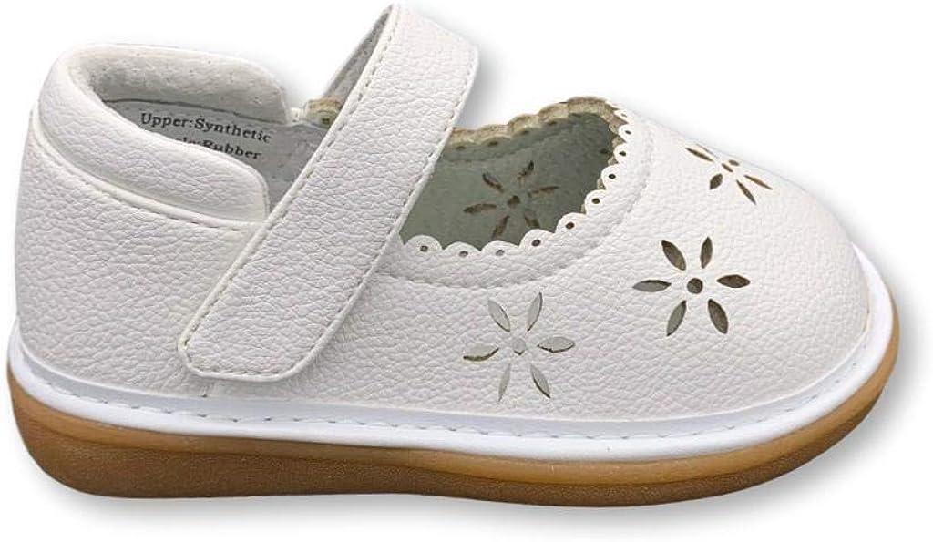 Wee Squeak Ellie White Mary Jane Toddler Squeaky Shoe