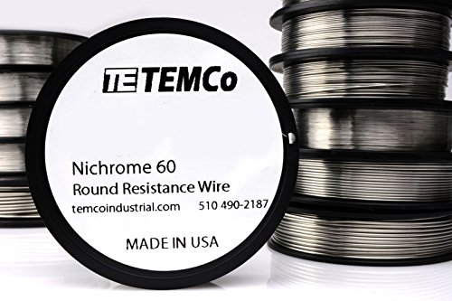 TEMCo Nichrome 60 series wire 32 Gauge Resistance AWG ga
