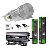 VIVOSUN Hydroponic 400 Watt HPS MH Grow Light Cool Tube Reflector Kit - Easy to set up, High Stability & Compatibility ( Enhanced Version )