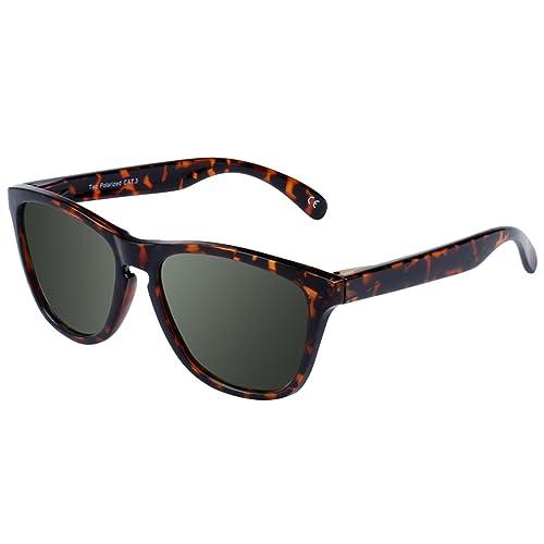 Polarizadas Negro Gafas de Sol Hombre Mujer - FEIDU FD 0617 (2017 Nuevo Diseño) Proteción UV 400 Para Hacer Ejercicio Para Hombre y Mujer con Caja,Garantería de Devolución de Dinero de 30 Días
