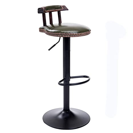 Admirable Amazon Com Alvnd Bar Stool Pu Leather Round Chairs Squirreltailoven Fun Painted Chair Ideas Images Squirreltailovenorg