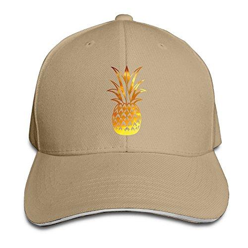 Unisex Sandwich Peaked Cap Gold Pineapple Casual Design Adjustable Cotton Baseball Caps Hats -