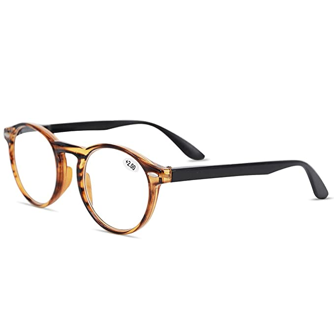 39cb92e23657 VEVESMUNDO Round Reading Glasses Women Large Frame Men Spring Hinges Retro  Presbyopic Spectacles Optical Prescription Eyeglasses Eyewear 0 1.0 1.5 2.0  2.5 ...
