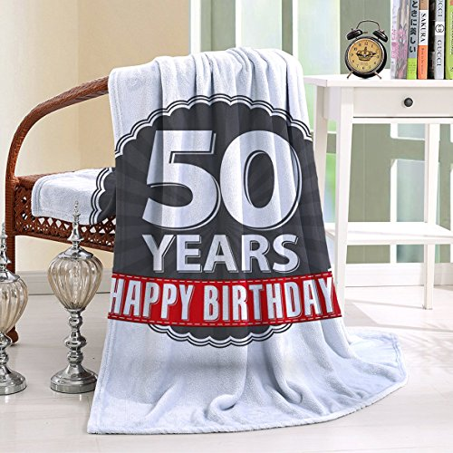Cannon Marlin (HAIXIA Blanket 50th Birthday Retro Label Red Ribbon Classical Old Fashioned Celebratory Grey Red White)