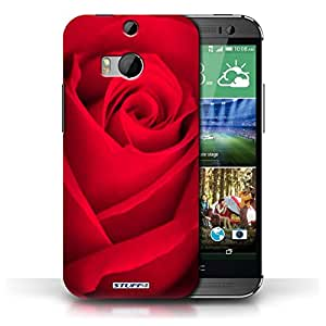 STUFF4 Phone Case / Cover for HTC One/1 M8 / Red Rose Design / Floral Garden Flowers Collection