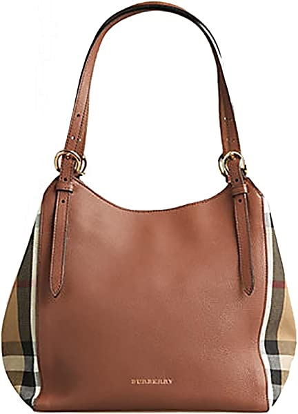 Amazon.com  Tote Bag Handbag Authentic Burberry Small Canter in Leather and  House Tan color Made in Italy  Shoes 984223be57857