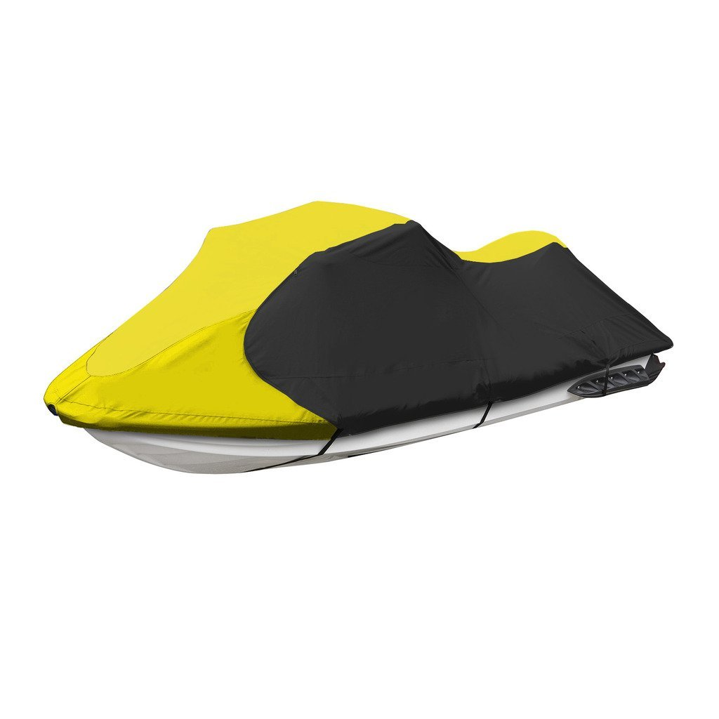Jetpro Trailerable PWC Watercraft Jet Ski Cover Yellow/Black Fits from 103''-115''(1 or 2 Seater) by Jetpro