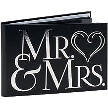 Malden International Designs Wedding Celebrations Mr & Mrs Brag Book Photo Album, 40-4x6, White