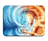 Environmentally Friendly Floor Mats Printed Fighting Fire With Water For Outdoor