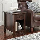 Indoor Parker Recliner Sofa Side Table, Estate Toffee Finish