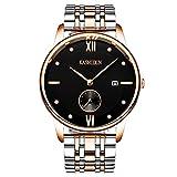 KASHIDUN.Men's Wrist Watches Top Brand Luxury Casual Quartz Analog Gold Army Watches Date-Black.MYSL-JH