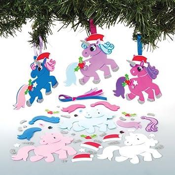 Baker Ross Kits De Decoraciones Combinables En Forma De Unicornio