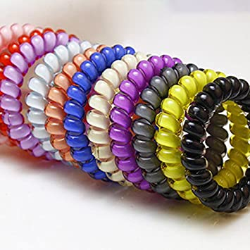 Hair ties- Invisibobble - Spiral Hair Ties - Kids Tie Hairband Accessories  Hair Rubber Rope 293006e34f2