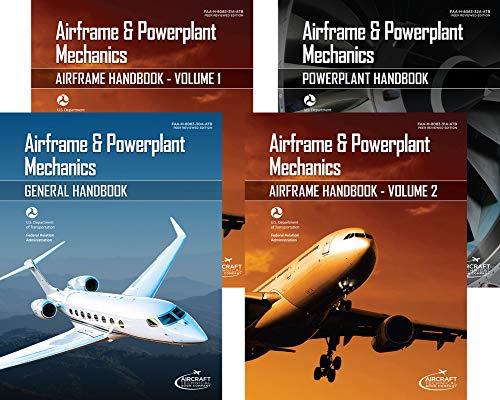 Airframe Set - Airframe & Powerplant Mechanics - Set of 4; FAA-H-8083-30-ATB, FAA-H-8083-31 (2 volumes), FAA-H-8083-32 (4 Volume set)